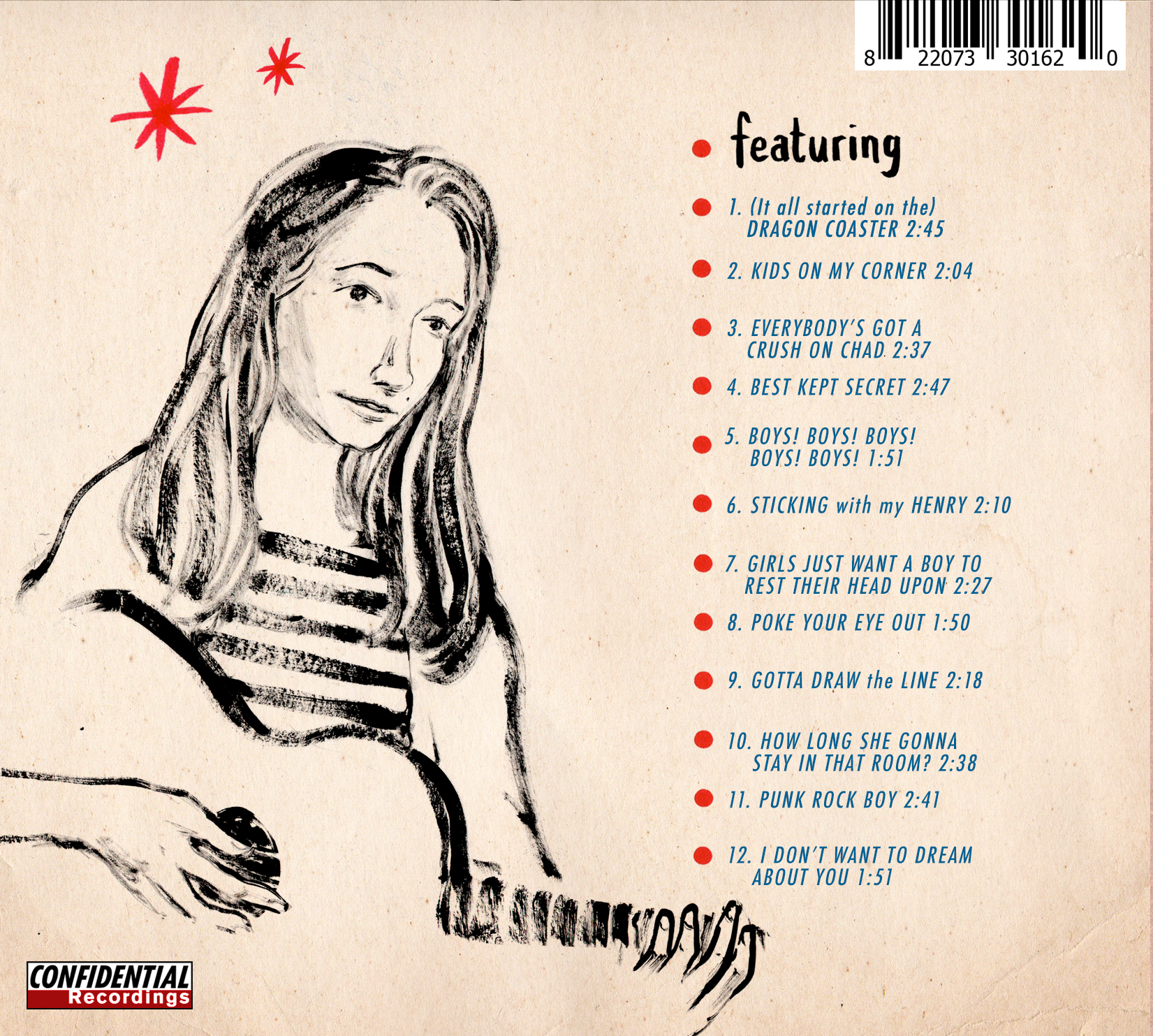 Album Back Cover by Joff Winterhart